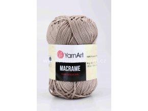 příze Macrame M156 hnědobéžová
