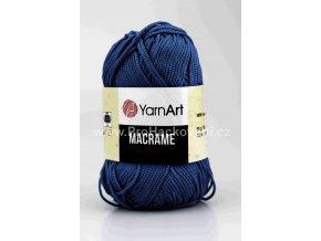 příze Macrame M162 tmavě modrá