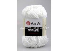příze Macrame M154 bílá