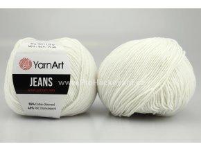 příze YarnArt Jeans 01 přírodní