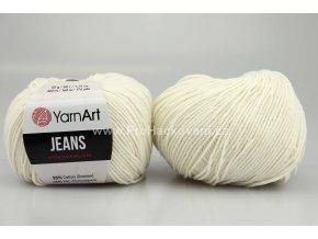 příze YarnArt Jeans 03 smetanová
