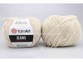 příze YarnArt Jeans 05 smetanové kapučíno