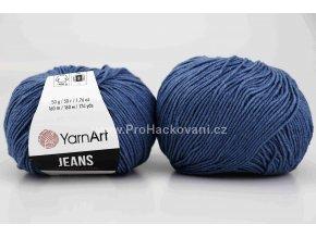 příze YarnArt Jeans 17 tmavší modrá