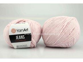 příze YarnArt Jeans 18 pudrově růžová