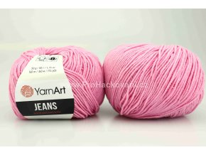 příze YarnArt Jeans 20 matná růžová