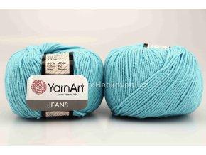 příze YarnArt Jeans 33 tyrkysově modrá