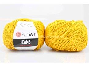 příze YarnArt Jeans 35 sytě žlutá
