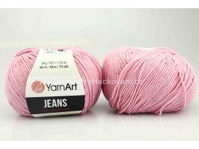 příze YarnArt Jeans 36 růžová