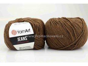 příze YarnArt Jeans 40 hnědá