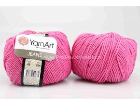 příze YarnArt Jeans 42 malinová