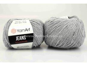 příze YarnArt Jeans 46 šedá