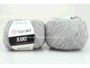 příze YarnArt Jeans 49 světle šedá