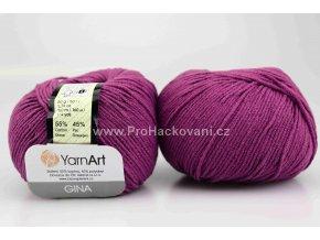 příze YarnArt Jeans 50 tmavě fialová