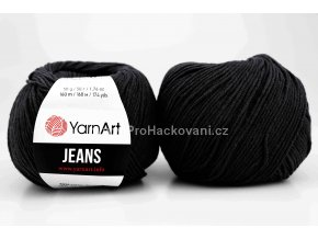 příze YarnArt Jeans 53 černá