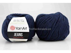 příze YarnArt Jeans 54 tmavě modrá