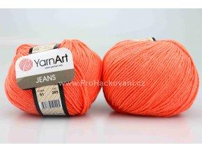 příze YarnArt Jeans 61 lososově oranžová