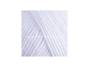 příze YarnArt Jeans 62 bílá
