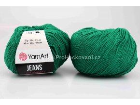 příze YarnArt Jeans 63 zelený petrol