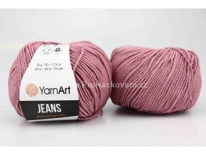 příze YarnArt Jeans 65 starofialová