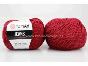 příze YarnArt Jeans 66 vínová