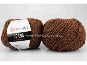 příze YarnArt Jeans 70 tmavě hnědá