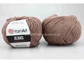 příze YarnArt Jeans 71 světle hnědá