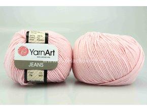 příze YarnArt Jeans 74 světle růžová