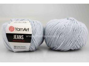 příze YarnArt Jeans 75 světle modrá