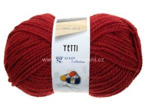 příze Yetti 52082 vínově červená