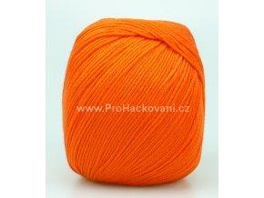 příze Perlina 50129 sytá oranžová