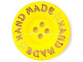 Hand made kulatý, žlutý 35mm
