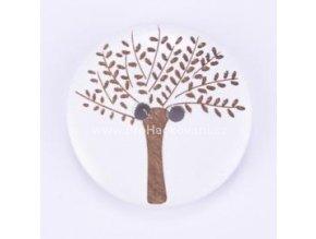 Dřevěný knoflík, strom