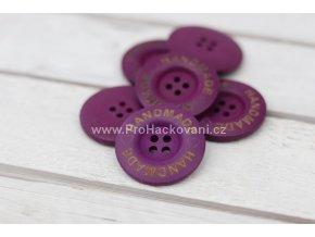 Hand made kulatý, fialový 35mm