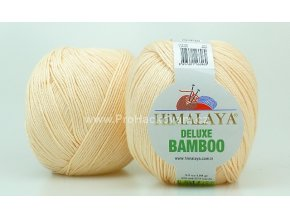 příze DeLuxe Bamboo 124-04 jemná meruňková