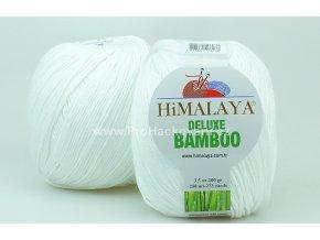 příze DeLuxe Bamboo 124-01 bílá