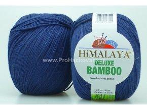 příze DeLuxe Bamboo 124-28 tmavě modrá