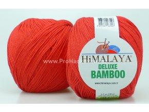 příze DeLuxe Bamboo 124-10 červená