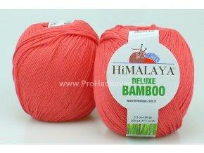 příze DeLuxe Bamboo 124-09 korálová
