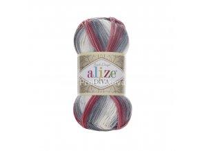příze Diva batik 5740 Variace šedé a růžové