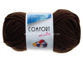 příze Comfort 51191 tmavě hnědá