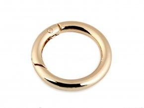 Karabina kroužek zlatá Ø 38 mm