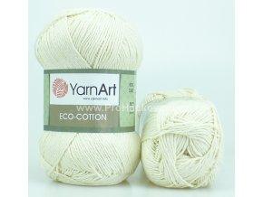 příze Eco Cotton 762 krémová