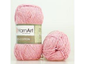 příze Eco Cotton 766 světle růžová