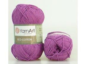 příze Eco Cotton 772 fialová