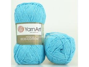 příze Eco Cotton 765 tyrkysová