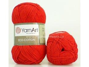 příze Eco Cotton 769 červená