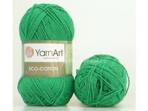 příze Eco Cotton 767 zelená