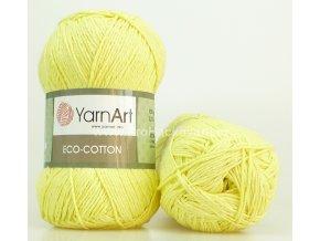 příze Eco Cotton 778 světle žlutá