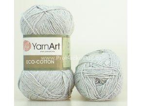příze Eco Cotton 763 šedá