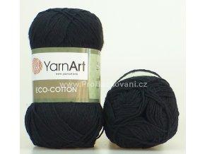 příze Eco Cotton 761 černá